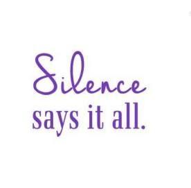 silence says it all